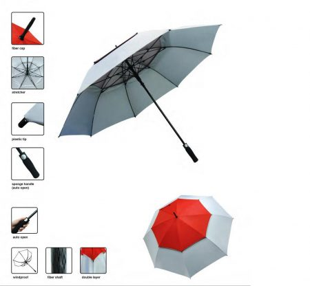 30-inch double layer umbrella