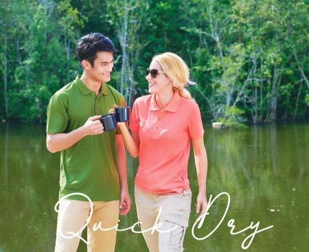 Microfibre / Quick Dry Polo T-Shirt With Collar