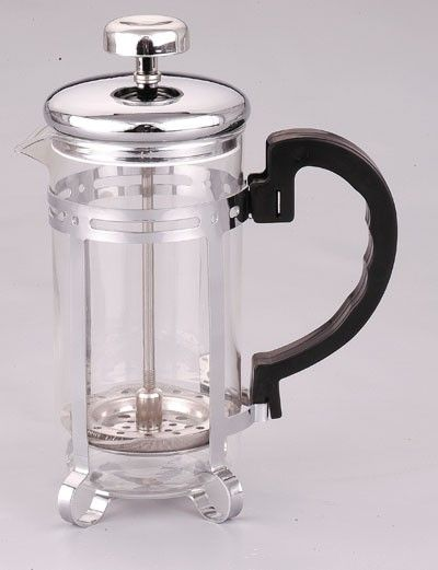 Coffee Plunger/ Glass Mug