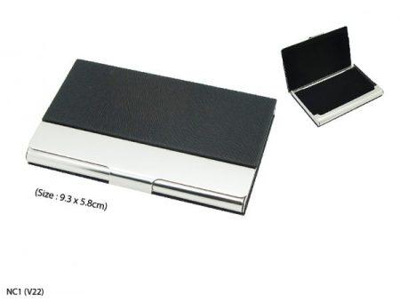 PU Metal Name Card Holder
